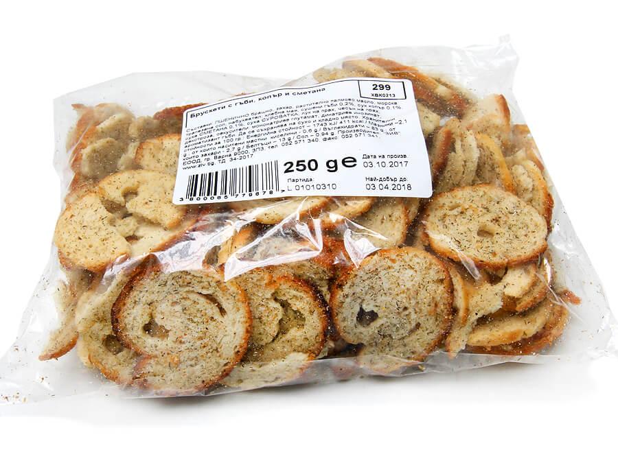 Bruschetti with mushrooms, dill and cream - 250 g