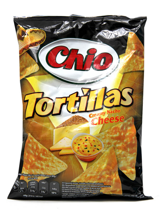Tortillas chips with Nacho cheese