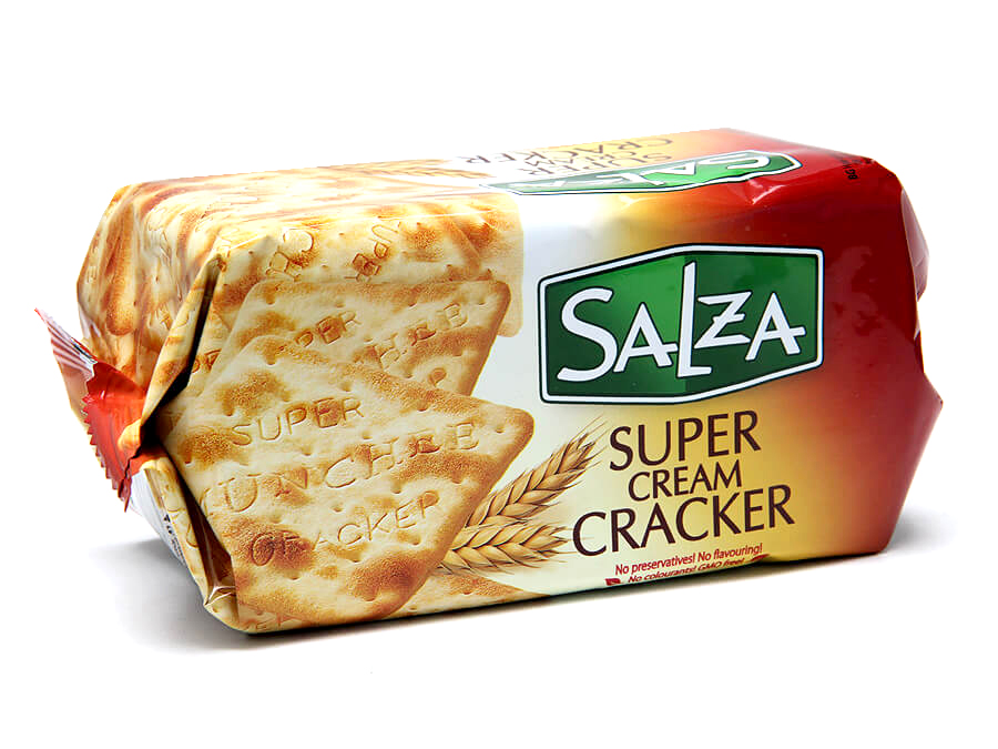 Crackers with butter