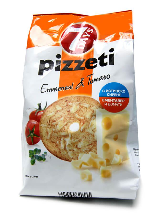 Пицети с ементал и домати