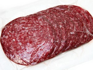 Salami, slices