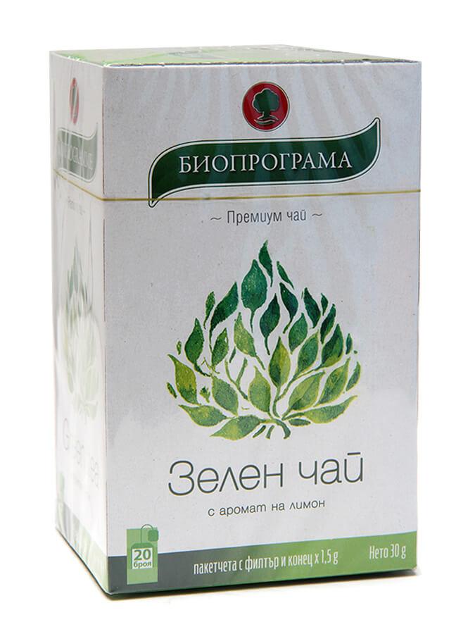 Зелен чай с аромат на лимон